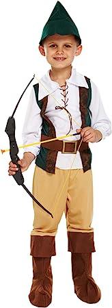 Henbrandt Disfraz de Cazador Infantil Tamaño Mediano Edad 7 - 9 años