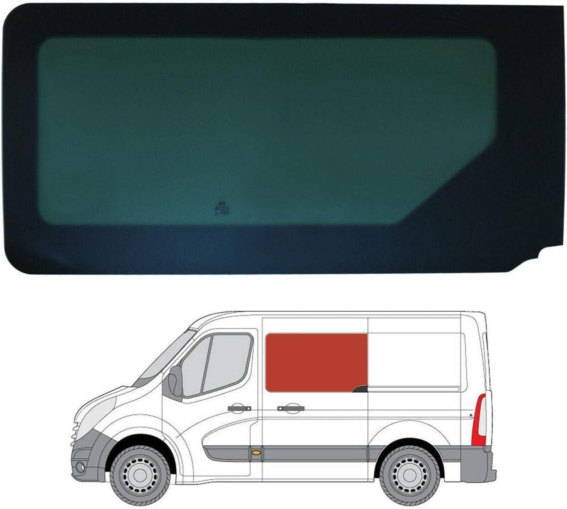 Mano izquierda, tintado oscuro fijo ventana para puerta corredera Nissan NV400 [L2, L3, L4]: Amazon.es: Coche y moto
