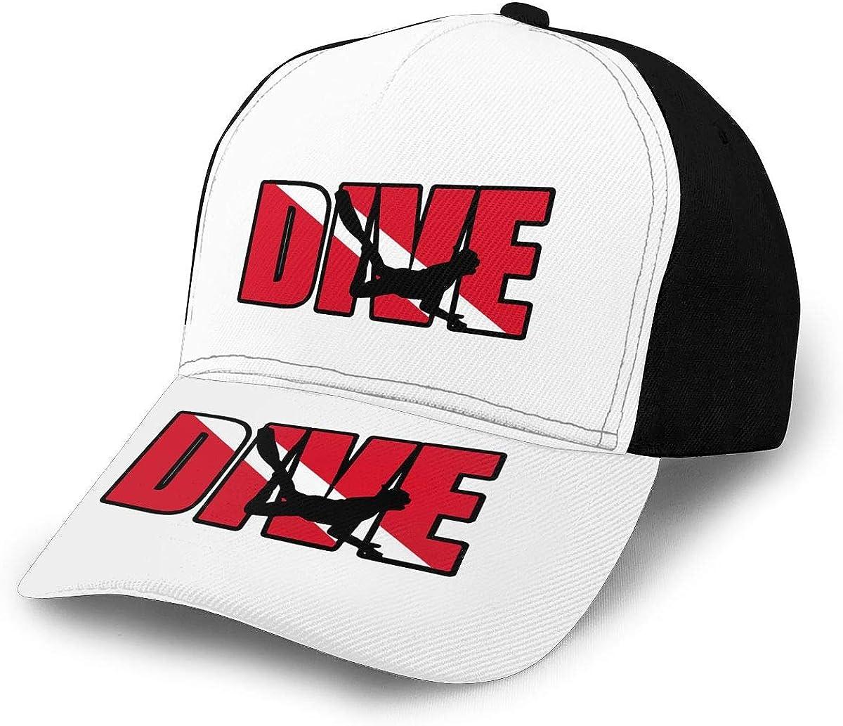 Dive Scuba Diver Unisex Adult Hats Classic Baseball Caps Peaked Cap