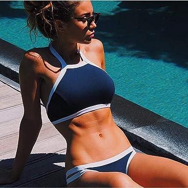 Traje de baño Señoras Sexy Deep V Bikini Traje de baño Ropa de ...