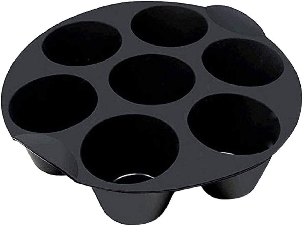 KASCLINO Air Fryer Silicone Cupcake Mold, 18/21cm Muffin Cake Cups | 7 Cups Non-Stick Universal Chocolate Muffin Cake Mold, Air Fryer Accessories