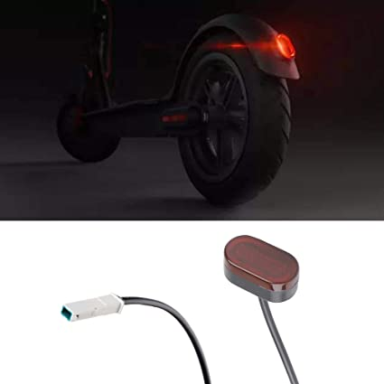 Atuka Piloto Trasero luz Trasera luz de Freno luz Trasera LED para Xiaomi Mijia m365 Scooter eléctrico Pieza de Recambio Accesorio