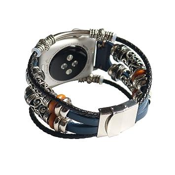 Huangou - Correa de Repuesto para Apple Watch Series 3 (42 ...