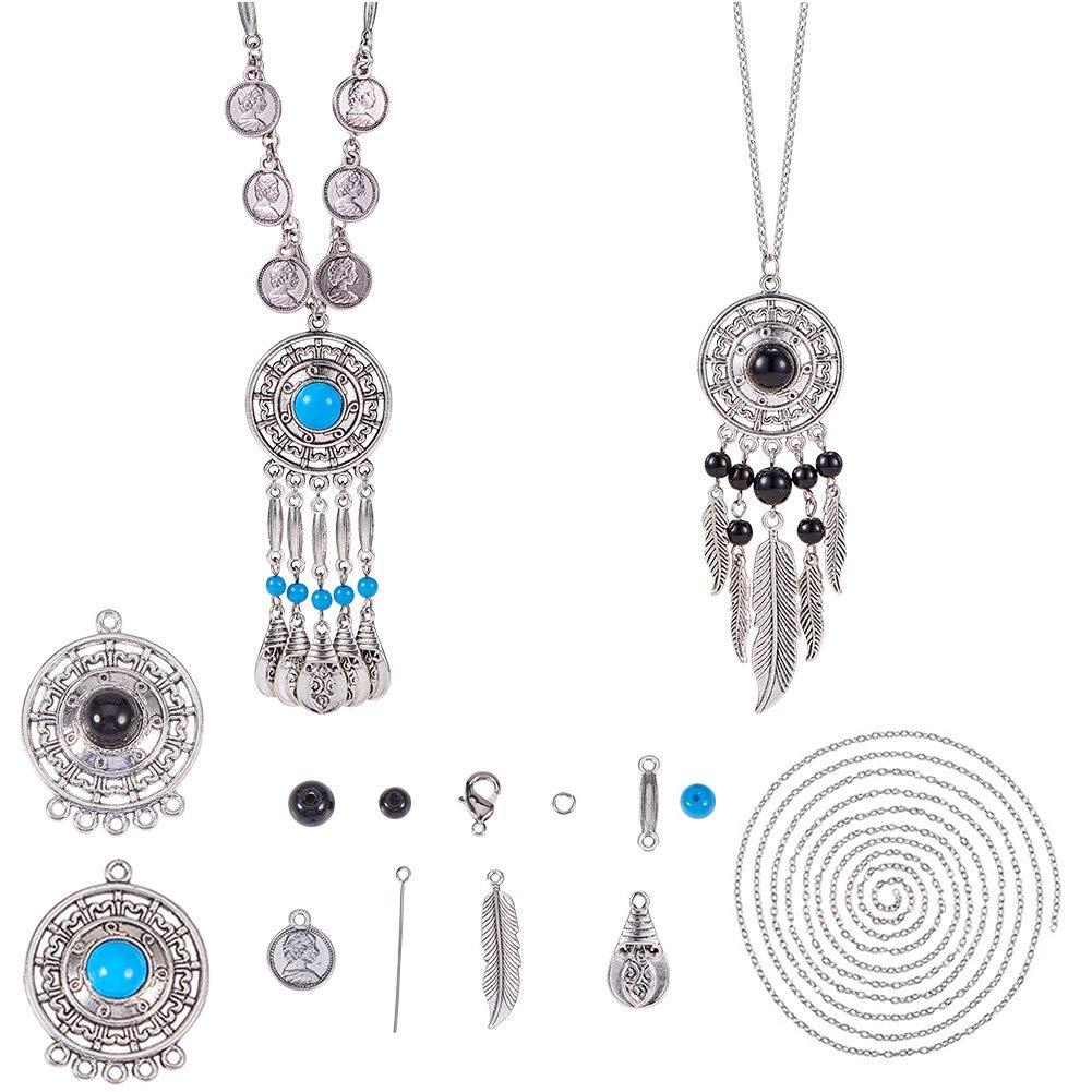 5pcs Tassel Fringe Earrings Dangle Pendants Charms for Jewelry Making Red