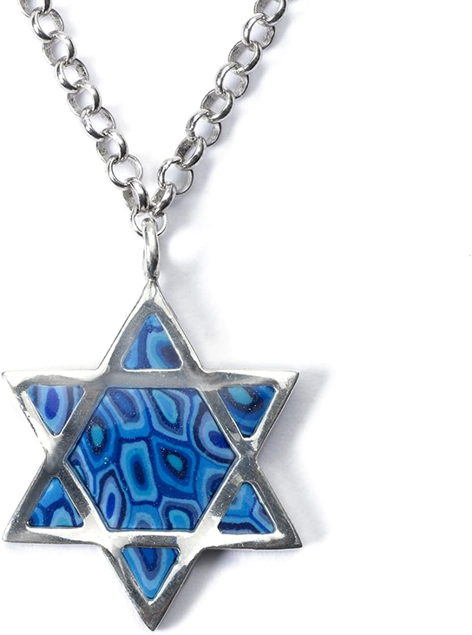 Jewish Jewelry 925 Sterling Silver Star of David Love Pendant Necklace