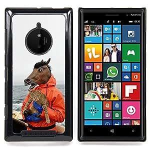 For Nokia Lumia 830 - Horse & Cat - Funny Meme - Yolo Lol Wtf Troll /Modelo de la piel protectora de la cubierta del caso/ - Super Marley Shop -