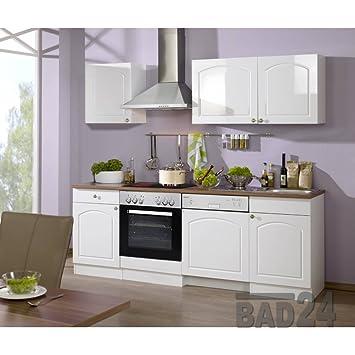Küchen-Leerblock 220 günstig Braga inkl. Spüle & APL, Hochglanz weiß ...