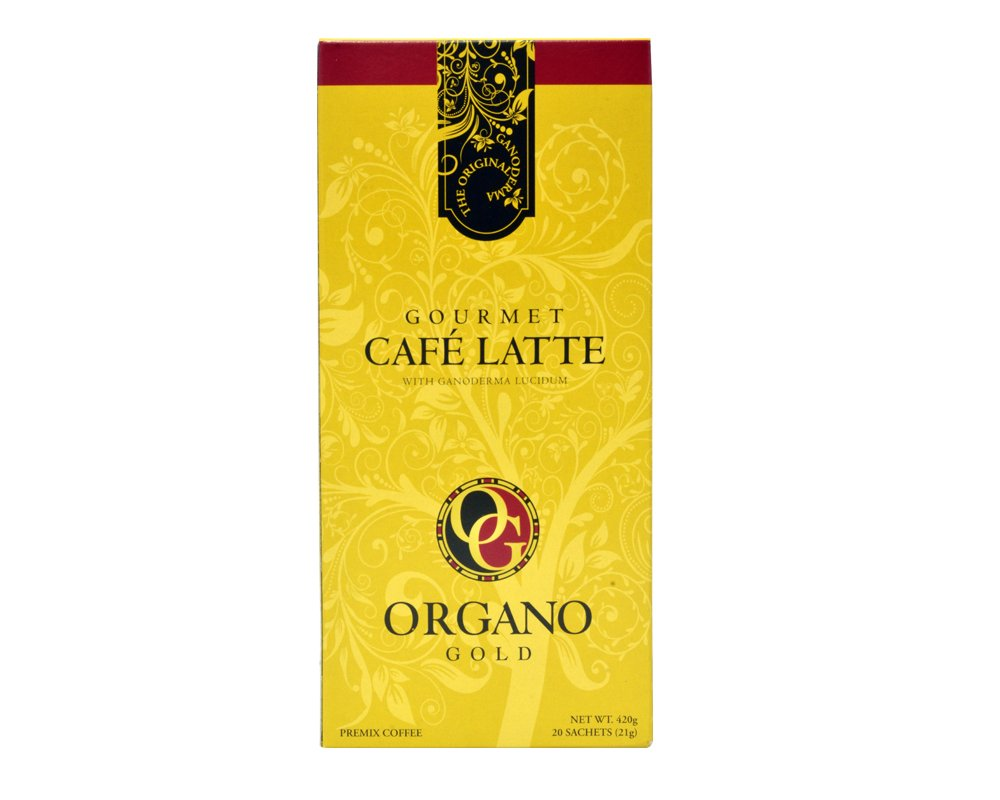 Organo Gold Gourmet Cafe Latte Coffee With Ganoderma Lucidum (1 Box of 20 Sachets) by Organo Gold Coffee