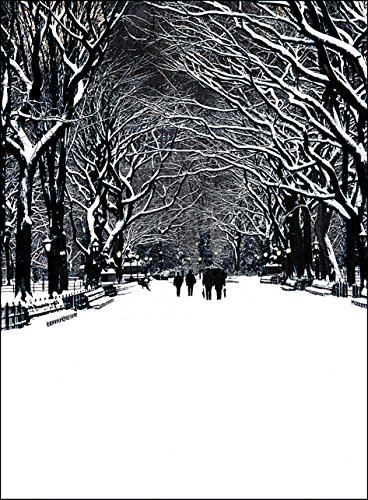 New York City Christmas Card - New York City Central Park Poet's Walk. NY Christmas Cards Boxed Set of 12 Holiday Cards And 12 Envelopes. Made In USA