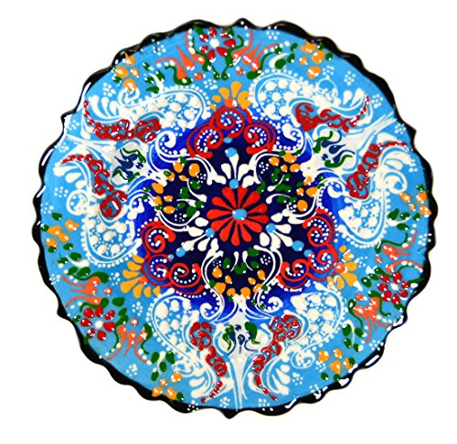Turkish Ceramics~Hand Painted Ceramic Plate-7 inch-blue