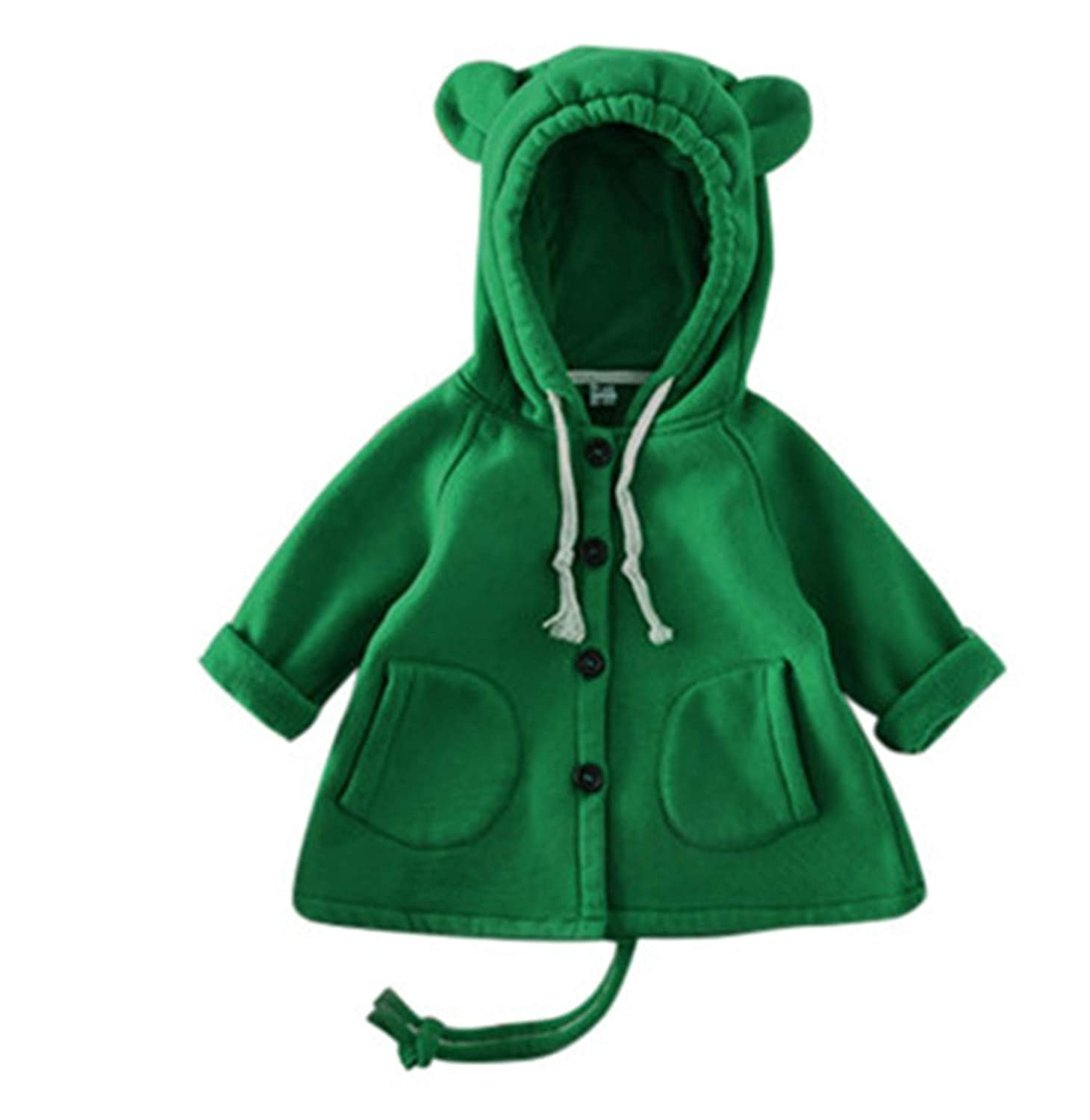 Paddy Meredith Autumn Winter Baby Girl Cartoon Big Ears Outerwear Kids Jacket Cotton Sweater
