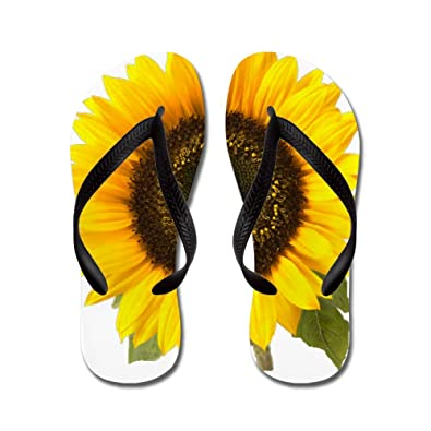 7c10a79622ce CafePress - Sunflower - Flip Flops