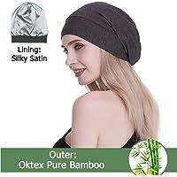 06076875baf68 FocusCare Satin Lined Sleep Slouchy Cap Curly Girl Slap Headwear Gifts for  Frizzy Hair Women