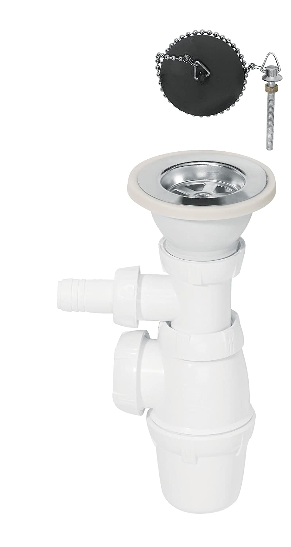 Wirquin SP3223 Siphon für Spüle mit Waschmaschinenanschluss