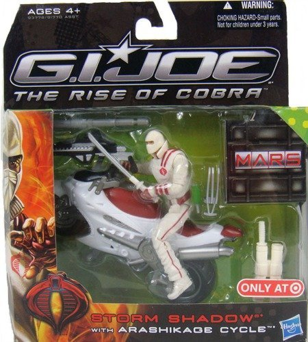Deluxe Storm Shadow (G.I. Joe The Rise of Cobra Storm Shadow with Arashikage Cycle Vehicle and Figure Set)
