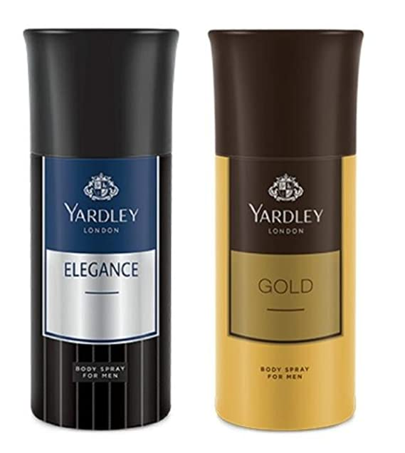Yardley London Deodorant for Men Elegance and Gold Combo Pack of 2(150 ml) Deodorants & Antiperspirants at amazon