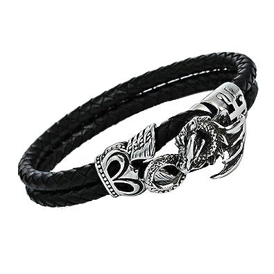 Bracelet De Fgutu Dragon Cuir Noirs Hommes ErCQdxeWBo