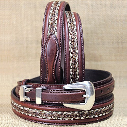 Tony Lama Mens Saddle (Tony Lama Men's Don Diego Western Belt Brown 32)