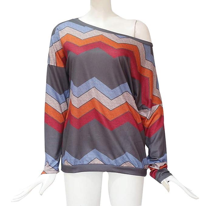 Amazon.com: AOJIAN Blouse Women Long Sleeve T Shirt Geometric Print Loose Tops: Clothing
