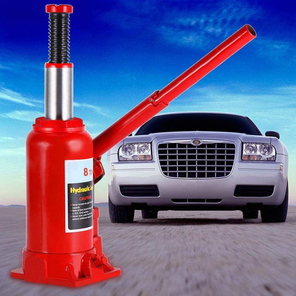 GOTOTOP 8T Cric hydraulique portable hydraulique Jack pour voitures camionnette de caravane