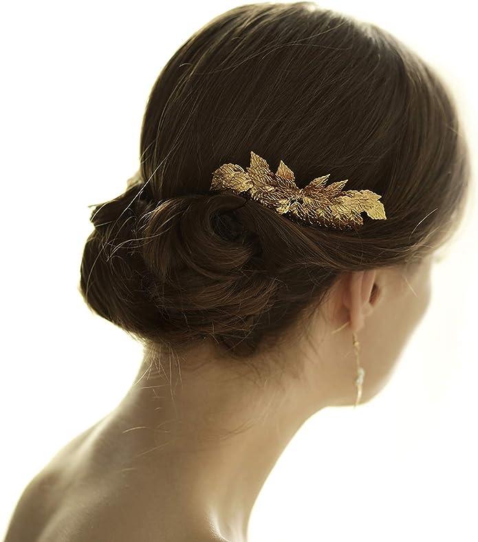 Accessoire De Deesse Grecque Peigne Branche De Feuilles Style Boheme Pour Mariage Ou Demoiselle D Honneur Rose Amazon Fr Bijoux