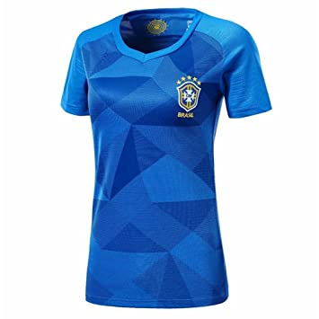 DLpf 2018 Femenino, Argentina, Alemania, España, Brasil, Francia, México, Fútbol Local, Fútbol, S, Brasil Camiseta Visitante: Amazon.es: Hogar