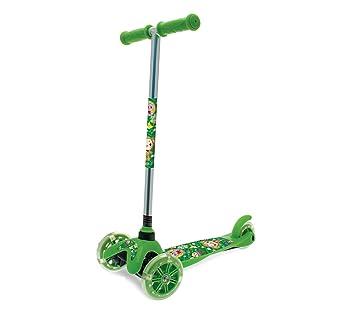 515326 Monopatín de aluminio para niños TWISTER SCOOTER 3 ruedas luminosas h 67 - Verde