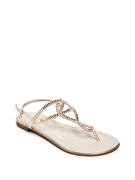2d94f517594f16 Guess Factory Women s During Rhinestone Sandals  Amazon.ca  Shoes ...