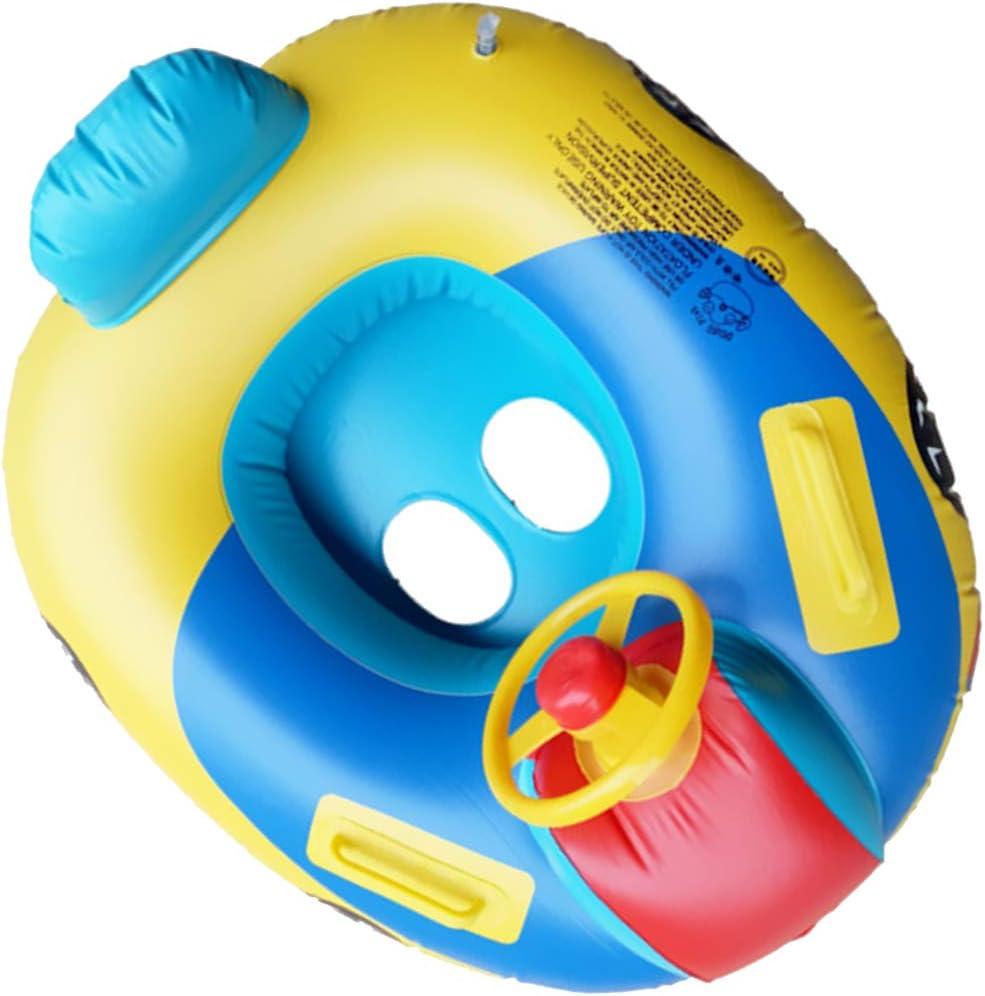 Toygogo ベビーフローティングインフレータブルスイムフロートシート、年齢1-6歳の水泳リング