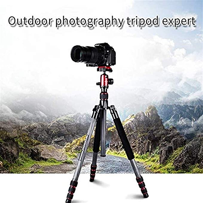 Suitable for Digital SLR Cameras Travel Tripod EPCMTTC Camera Tripod Traveler Tripod,Portable Multifunction 8-Layer Carbon Fiber Professional Foldable Monopod with 360/°Panoramic Ball Head
