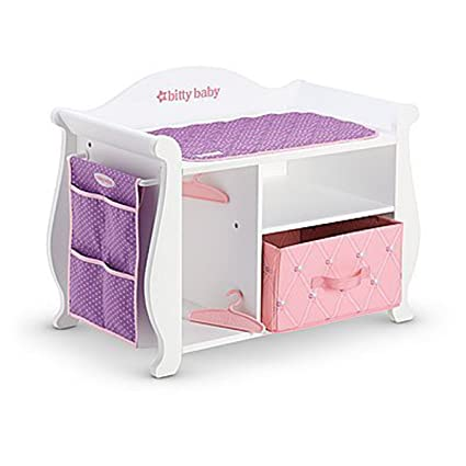 American Girl Bitty Baby Changing Table & Storage 2015