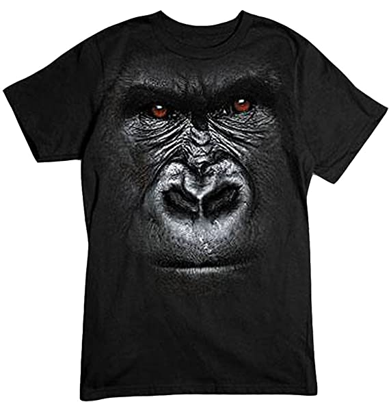 b3293991430a9 LiberTEES Big and Tall Big Gorilla Face T-Shirt Sizes up to 6XL and 4XLT