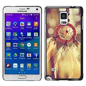 - Dream Catcher - - Monedero pared Design Premium cuero del tir¨®n magn¨¦tico delgado del caso de la cubierta pata de ca FOR Samsung Galaxy Note 4 SM-N910 N910 Funny House
