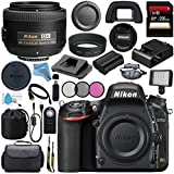 Nikon D750 DSLR Camera 1543 AF-S DX 35mm f/1.8G Lens 2183 + 52mm 3 Piece Filter Kit + Carrying Case + 256GB SDXC Card + Card Reader + Professional 160 LED Video Light Studio Series Bundle