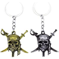 Pirates of the Caribbean Keychain Necklace Jewelry Pendant Charms Gifts for Boy Friends