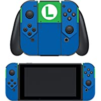 """Controller Gear Nintendo Switch Skin & Screen Protector Set, Officially Licensed By Nintendo - Super Mario Evergreen """"Luigi's Outfit"""" - Joy-Con Only - Nintendo Switch"""
