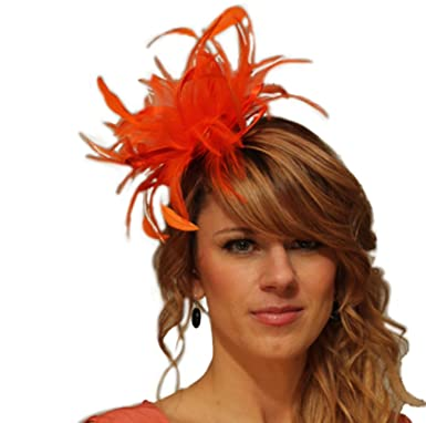 Lukis Women Bridal Fascinator Flower Hat Feather Head Clip For Party Wedding Brooch Pin b8hlG