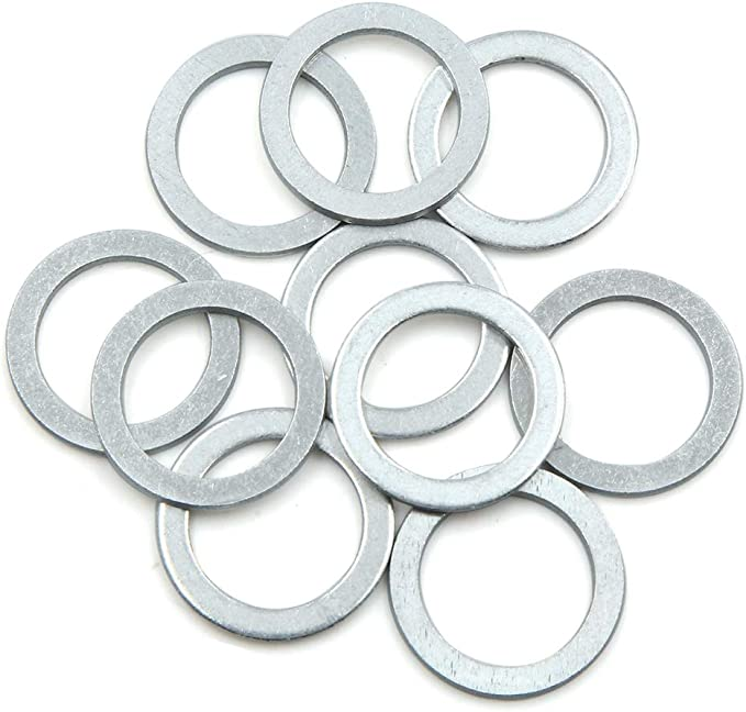 for Car 18mm OD X AUTOHAUX 10pcs Engine Oil Crush Washers Drain Plug Gaskets 10mm ID