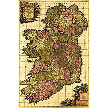 Ireland - Panoramic Map (24x36 Giclee Gallery Print, Wall Decor Travel Poster)