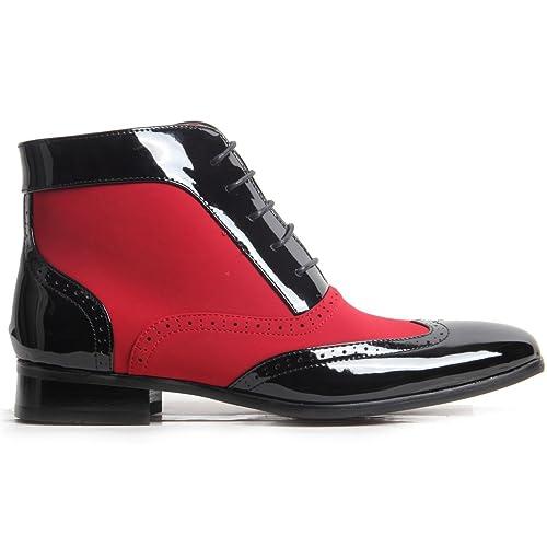 Collezione Italiana Montez - Botas de Material Sintético para hombre, color negro, talla 40: Amazon.es: Zapatos y complementos