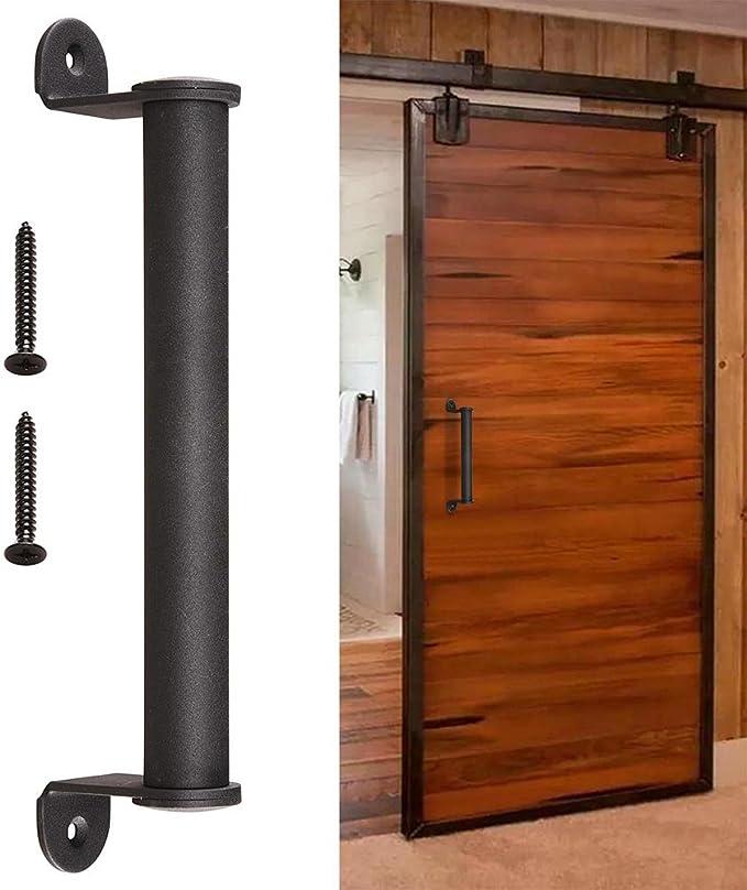Yescom - Tirador de puerta corredera para puerta de madera de hierro fundido (mango cilíndrico, 25,4 cm): Amazon.es: Bricolaje y herramientas