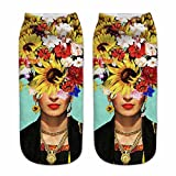 ZMLIA Frida Kahlo - Calcetines de mujer 3D con retrato digital 0880378328c5e