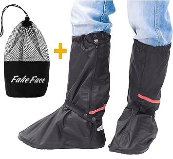 Unisex cubrezapatillas botas impermeable reutilizable cubrezapatillas de ciclismo lluvia nieve antideslizante plantillas epaisse polainas elástica ...