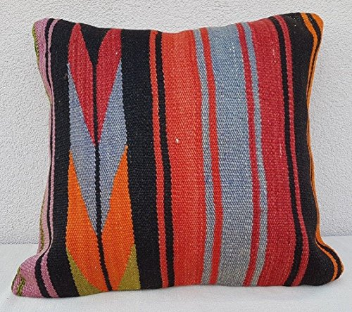 Top Quality Handmade Kilim Pillow Cover, Old Turkish Rug Pillow Cover 20