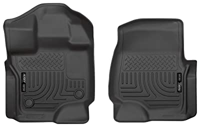 Husky Liners 18361 Black Weatherbeater Front Floor Liners Fits 2015-2019 Ford F-150 SuperCrew Cab
