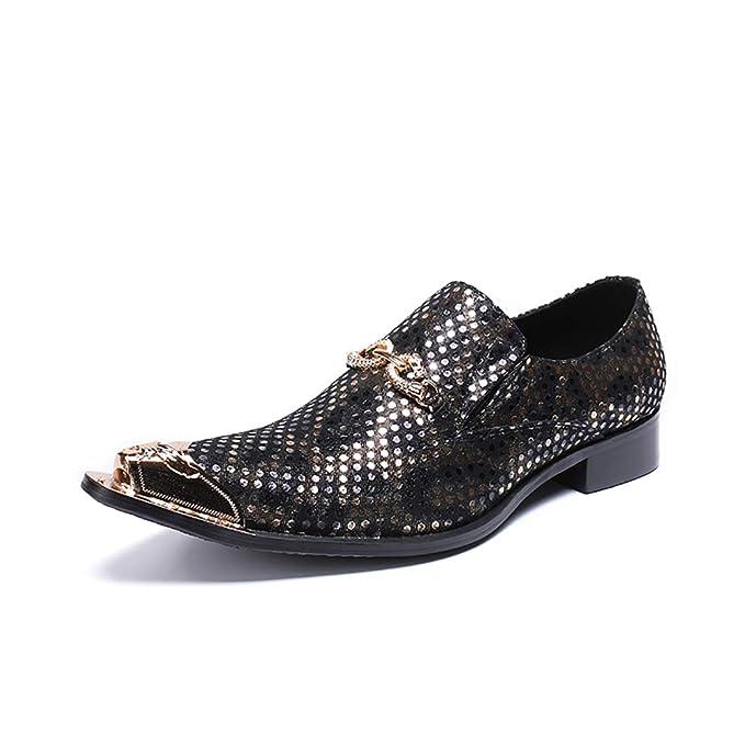 ¥*Shoes Mocasines de Hombre Diamantes de imitación Remaches Zapatos Zapatos de Fiesta de Boda: Amazon.es: Ropa y accesorios