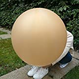 5 Giant Balloon 36 Inch Round Latex Big Balloon Large Thick Balloons for Photo Shoot/Birthday/Wedding Party/Festival/Event/Carnival Decorations Gold