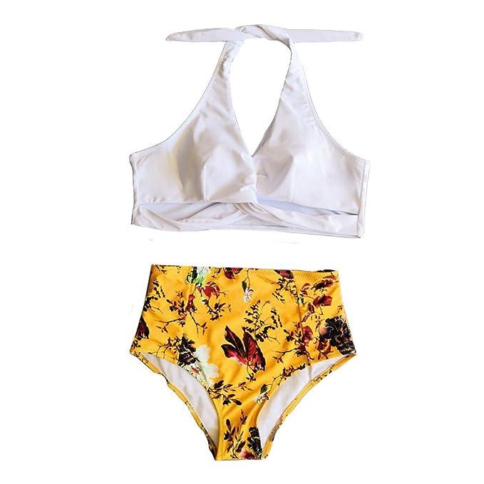 810b7ba32bd3 Stampa Collo Appeso Costume da Bagno divis,Robemon Donne Un Pezzo Flessione  sulle Braccia tampone Bikini Intero bagnarsi Beachwear: Amazon.it:  Abbigliamento