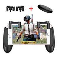 Mobile Game Trigger Controller Gamepad - KACOOL Sensitive Shoot and Aim Fire Buttons L1R1 for PUBG / Knives Out / Rules of Survival, Mobile Gaming Joysticks for Android iPhone (Game Triggers+Gamepad Handle-2)
