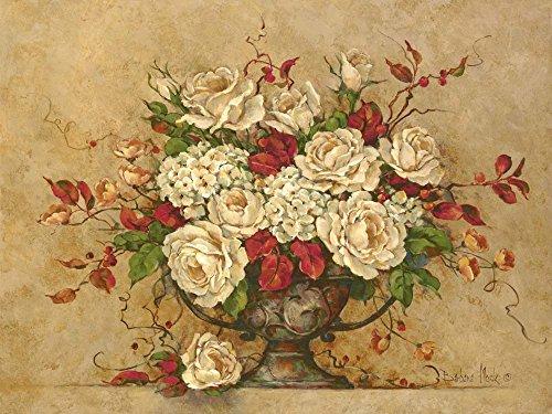 Autumn Rose Urn by Barbara Mock Art Print, 24 x 18 inches